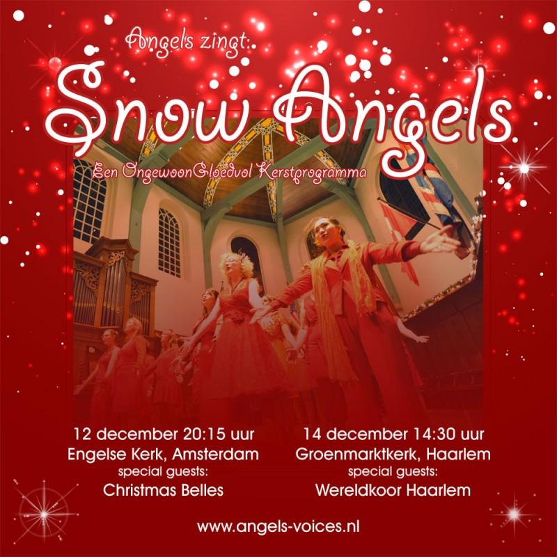Flyer kerstconcerten Angels 2014